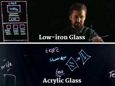lightboard video glass demonstration