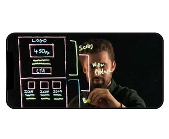 settings for webcam lightboard filming
